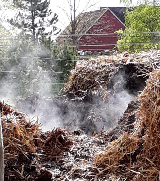 hästgödsel gödselstack naturgödsel  Greenspire Trädgårdskonsult mark jord mull
