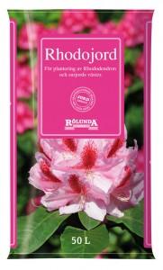 Specialjord för surjordsväxter med mycket torv finns hos många jordtillverkare, här från Rölunda.