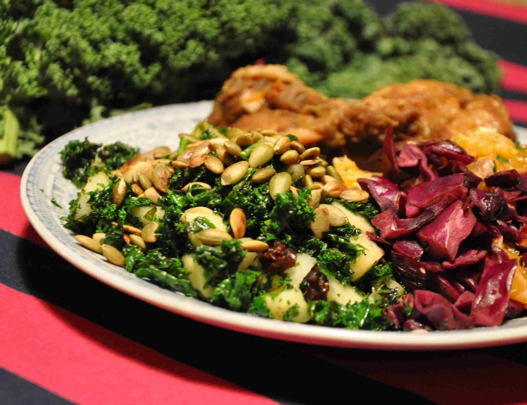 Grönkål är höstens och vinterns stora grönsak tillsammans med rotfrukter och rödkål.