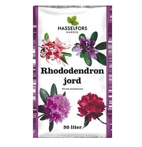 Färdigblandad rhododendronjord finns att köpa som är anpassad för surjordsväxter.