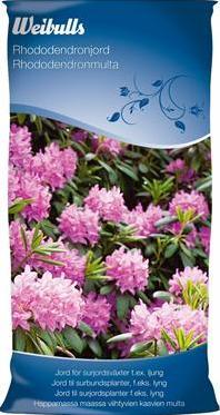 Rhododendronjord är en torvblandning med lucker struktur som håller vatten.