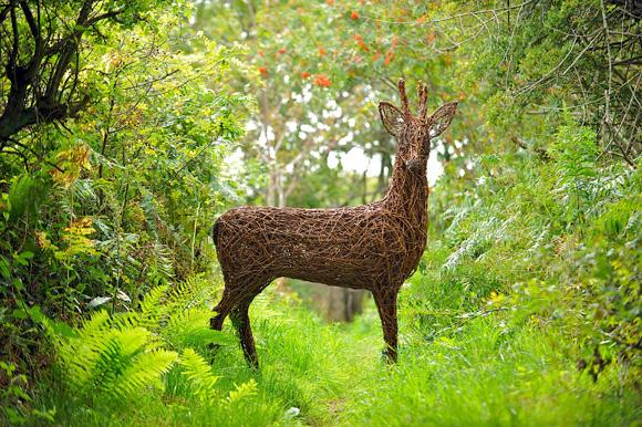 En hjort av pil gjord i naturlig storlek.