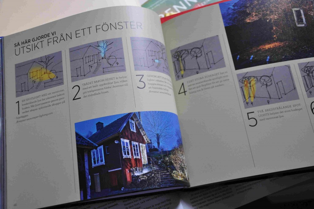 Belysningsboken ger enkla tips på hur man lägger upp utomhusbelysning av fasader och parkmiljöer.