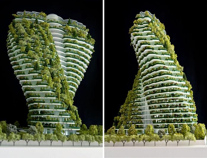 Agora Tower är ett storskaligt odlingsprojekt i ett skruvat höghus som uppförs i Taiwan.