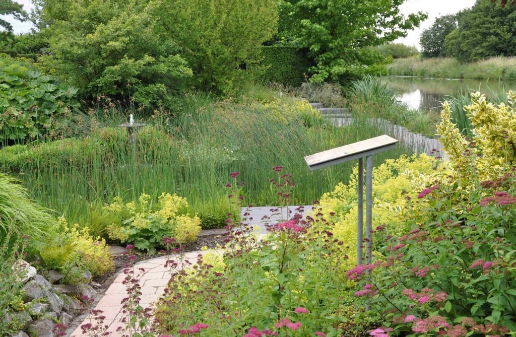 Färgfält som återkommer längre fram i rabatten eller trädgården skapar sammanhållning.