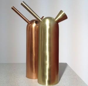 Kannan Svante i prototypen tillverkas i mässing och koppar.